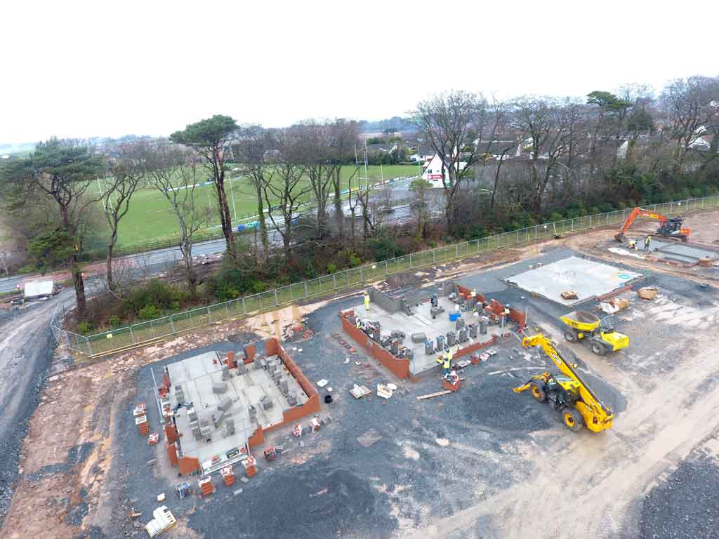 Construction at High Trees, Donaghadee
